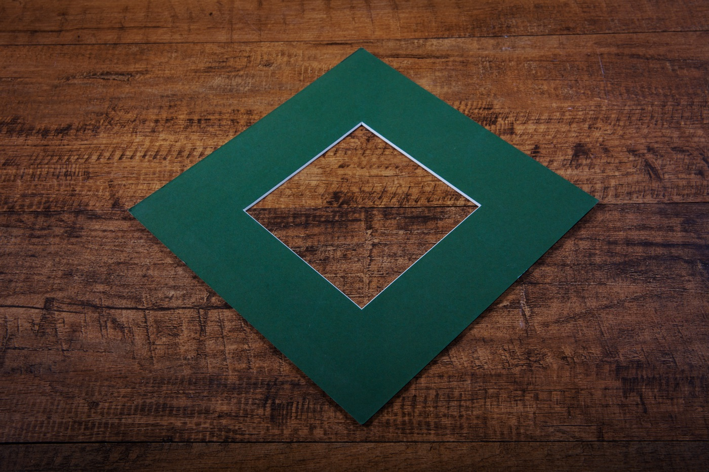 mount board in bottle green