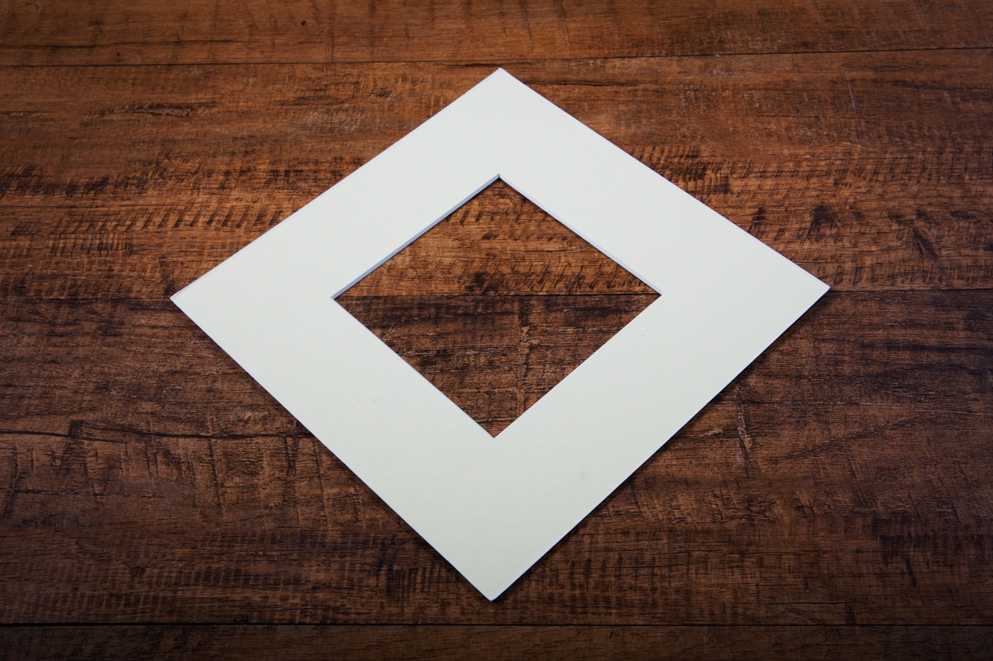 mount board in ivory